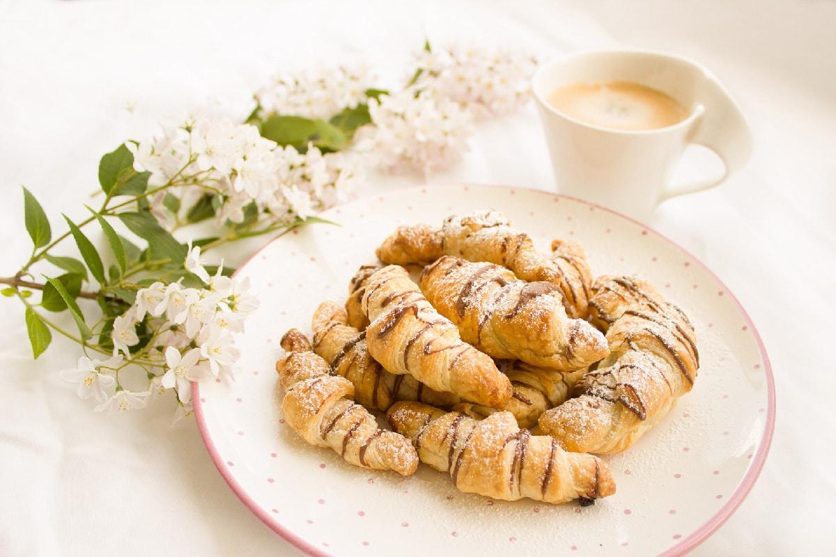 Mini croissants au ChokoAmande